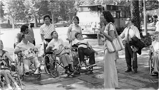 Tours for the Disabled, a Parks photo from July 21, 1974 at Fort Tryon Park.