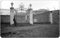 Main Gate of Van Cortlandt Family Burial Plot, December 16, 1934, New York City Parks Photo Archive