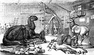 The Arsenal, Paleontological Studio at Central Park Museum, c. 1868