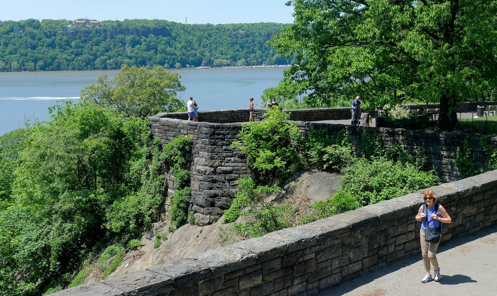 Head to the Cloisters Lawn to this overlook to capture one of the best scenic views from the park.