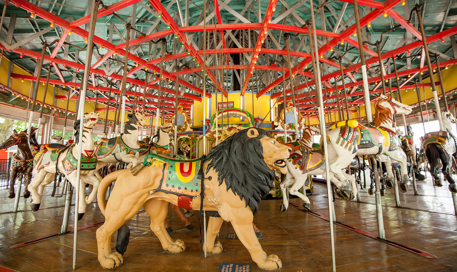 Be sure to take a ride on this historic carousel from the 1964-65 World's Fair. Adults ride free, so hop on with the kids!