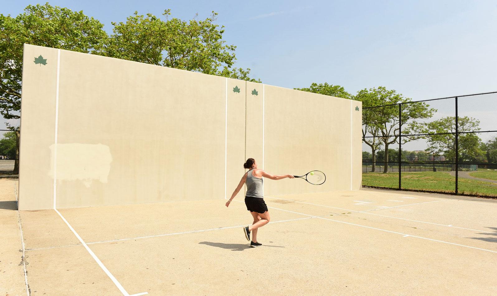 We also have tennis courts and handball courts, and a dog run for your pals.
