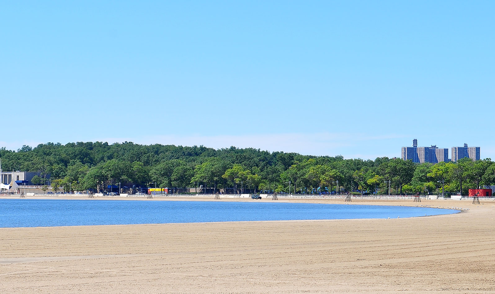 Cool down at Orchard Beach, also called the Bronx Riviera, the only public beach in the borough!