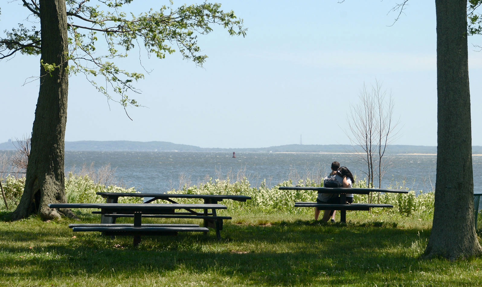 Have lunch with a view of the bay (and New Jersey!) at the picnic area just south of the beach.
