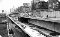 <em>Brooklyn Queens Expressway and Brooklyn Heights Promenade Construction</em>, August 18, 1948, New York City Parks Photo Archive