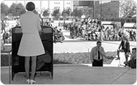 Dedication of Damrosch Park and Guggenheim Bandshell, May 22, 1969, New York City Parks Photo Archive