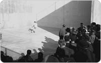 Three-wall handball in Lincoln Terrace Park, November 22, 1959, New York City Parks Photo Archive