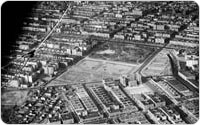 Lincoln Terrace Park, Aerial view, 1934, Praeger Report