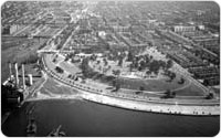 Aerial view of Owl's Head Park and Shore Road, September 8, 1937, New York City Parks Photo Archive