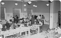 <em>Arts & Crafts Room at St. John's Recreation Center</em>, April 28, 1956, New York City Parks Photo Archive