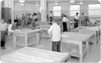 <em>Woodworking Shop at St. John's Recreation Center</em>, April 28, 1956, New York City Parks Photo Archive