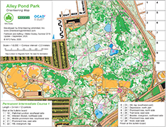 alley pond park orienteering course map intermediate 1