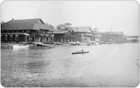Boathouses along Sherman Creek, Harlem River, now Swindler Cove Park, circa 1890-1900, Manhattan, George Grantham Bain Collection, Library of Congress