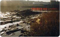 Sherman Creek, now Swindler Cove Park, Harlem River, 1997, Amy Gavaris, photograph courtesy the New York Restoration Project