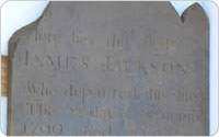 James Jackson Gravestone, 1799, from Washington Square Park (excavated 2009)