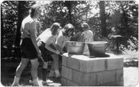 Girl Scouts cooking