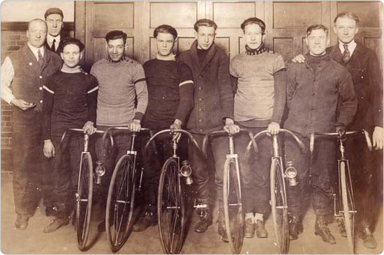 Bicycle riding club, circa 1930s?