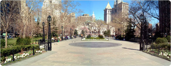 One of the city?s first parks, City Hall Park continues to serve as a gathering spot for city dwellers.