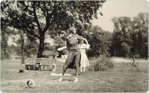 Woman Golfer Tees Off, Clearview Golf Course, Queens, September 4, 1938, Max Ulrich, New York City Parks Photo Archive