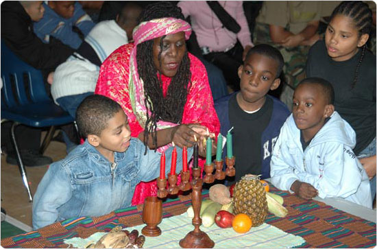 A Kwanzaa celebration at St. James Recreation Center in the Bronx, December 27, 2004. Photo by Malcolm Pinckney.