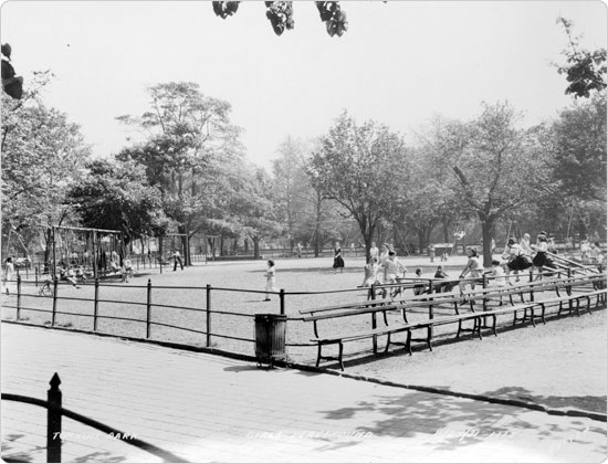 Image of Girls' Playground at Tompkins Square, August 25, 1931