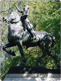 The Joan of Arc Memorial in Riverside Park, dedicated December 6, 1915