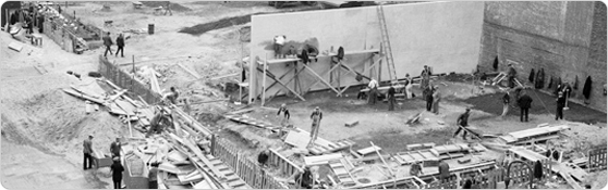 Construction of Lillian Wald Playground in the Lower East Side, October 17, 1934.