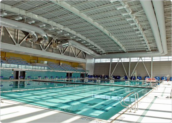 The pool at Flushing Meadows Corona Park Pool & Rink, January 7, 2008. Photo by Daniel Avila.