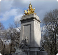 Maine Monument in Central Park, January 30, 2007.
