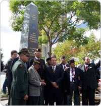September 29, 2006 dedication ceremony of the 396th Memorial. Photo: Jonathan Kuhn.
