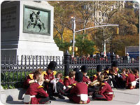 November 11, 2006 (Veterans Day) shot of the Worth Monument. Photo by Jonathan Kuhn.
