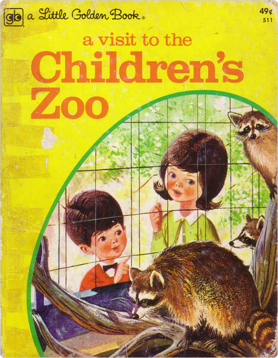 The cover of a children?s book, A Visit to the Children?s Zoo, largely based on the Central Park Children?s Zoo.