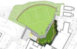 West Bronx Recreation Center Ballfield Rendering