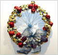"Wreath from 2005 Arsenal Gallery exhibition - ""Transit in the Big Apple"" by Jo Walthall"