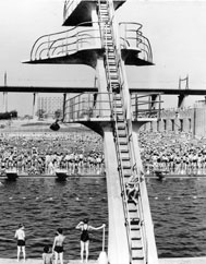 Astoria Pool diving board historical photo