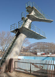 Astoria Pool diving board current day