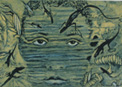 Julio Valdez, Oceanic Eyes, 2010-11, Solarplate Etching, print on paper, A/P, Printed by the artist and Tony Kirk
