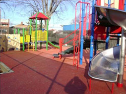 PS 138X after construction of playground