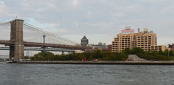 Brooklyn Bridge Park as seen from the water