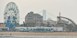 Coney Island Beach and Boardwalk as seen from the water