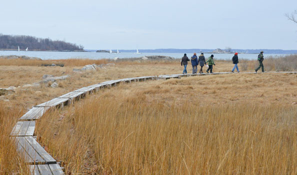 Hiking at Hunter Island in Pelham Bay Park