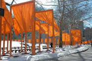 The Gates art installation in Central Park, Manhattan