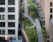 Aerial shot of High Line Park, Manhattan