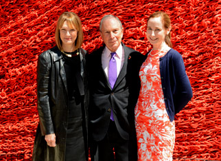Patty Harris, Michael Bloomberg, and Veronica White