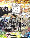 Tuwanda Harmon, We March for Civil Rights, 2013, Digital Print