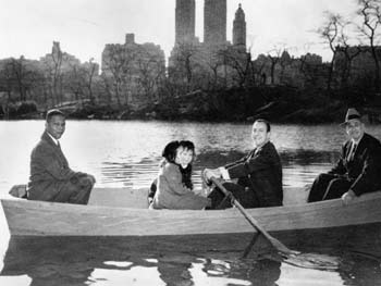 Hulan Jack, Mayor Wagner, Commissioner Moses, Loeb Boathouse Dedication, Central Park, March 12, 1954