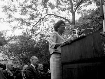 Constance Baker Motley, Delacorte Clock Dedication, Central Park, June 24, 1965