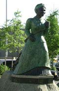 Front view of Swing Low: A Memorial to Harriet Tubman, June 18, 2008. Photo by C. Djuric.