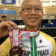 A proud bronze medalist at the USA Cycling Juniors Track National Championships