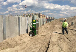 construction of sand retaining wall